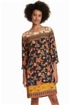 šaty Desigual Erdenet negro