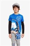 tričko Desigual John diva blue