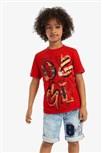 tričko Desigual Bang rojo