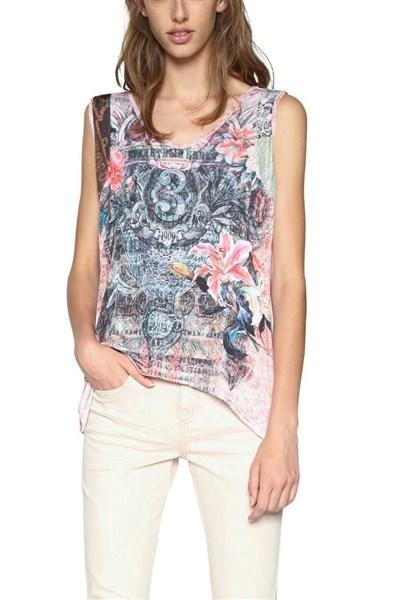 tričko Desigual Cruel Summer negro velikost  S  5d7d576a837