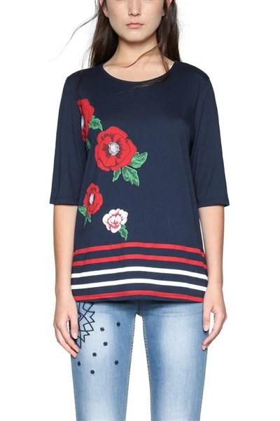 tričko Desigual Summertime marino a77bd07f5d2