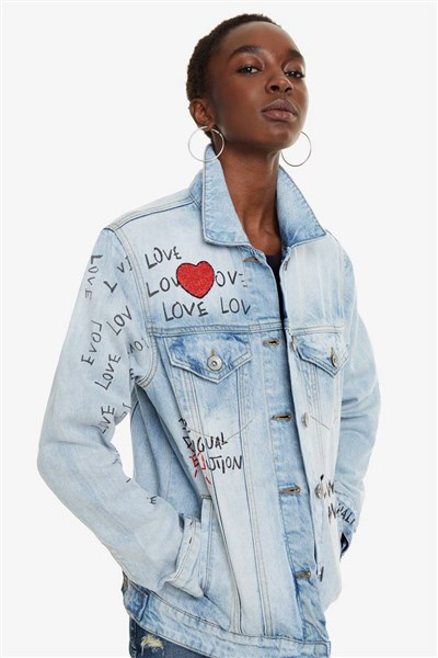 bunda Desigual Michigan denim light wash