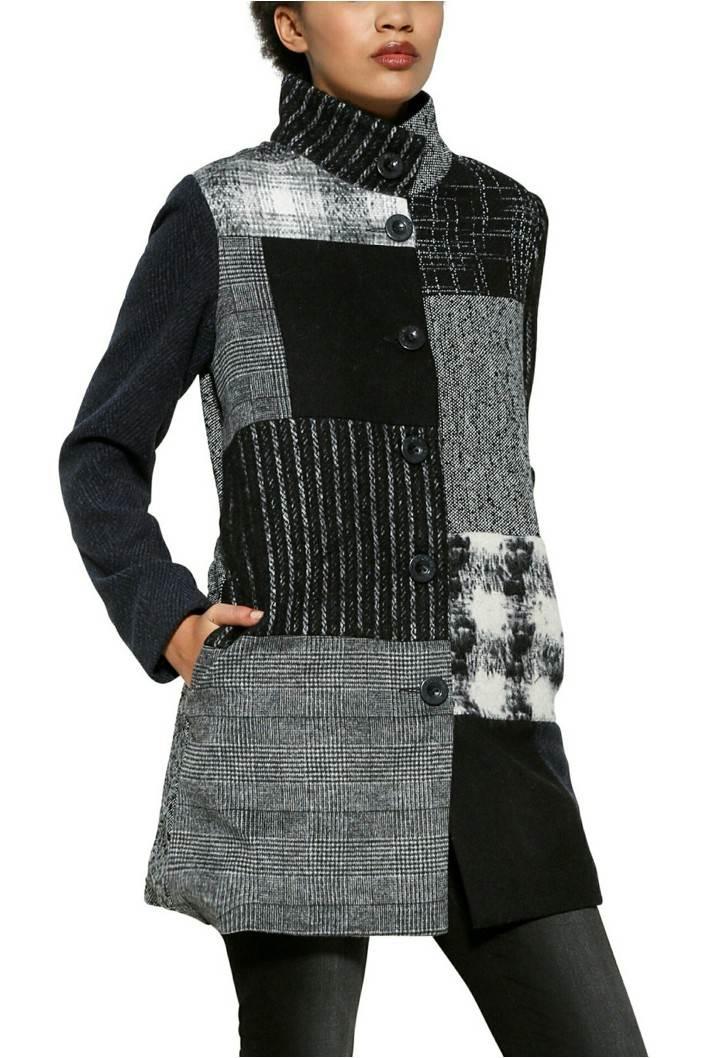 kabát Desigual Rosita negro velikost: 44