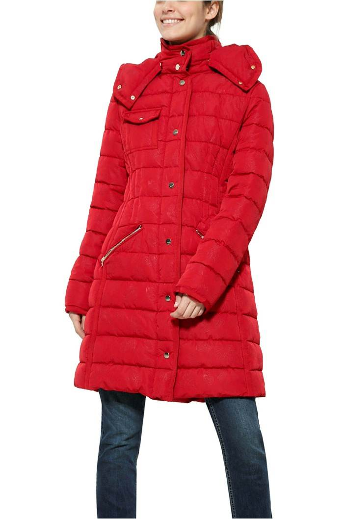 kabát Desigual Pisa borgona velikost: 44