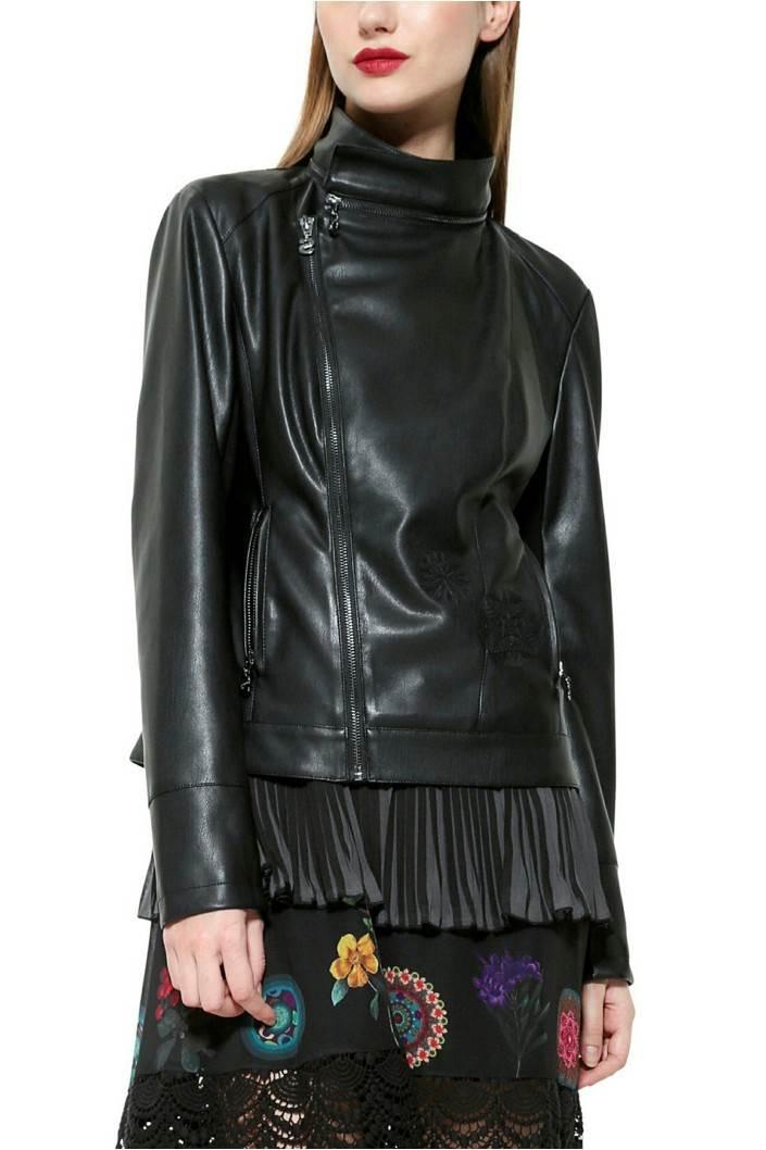 kabát Desigual Lucy negro velikost: 44