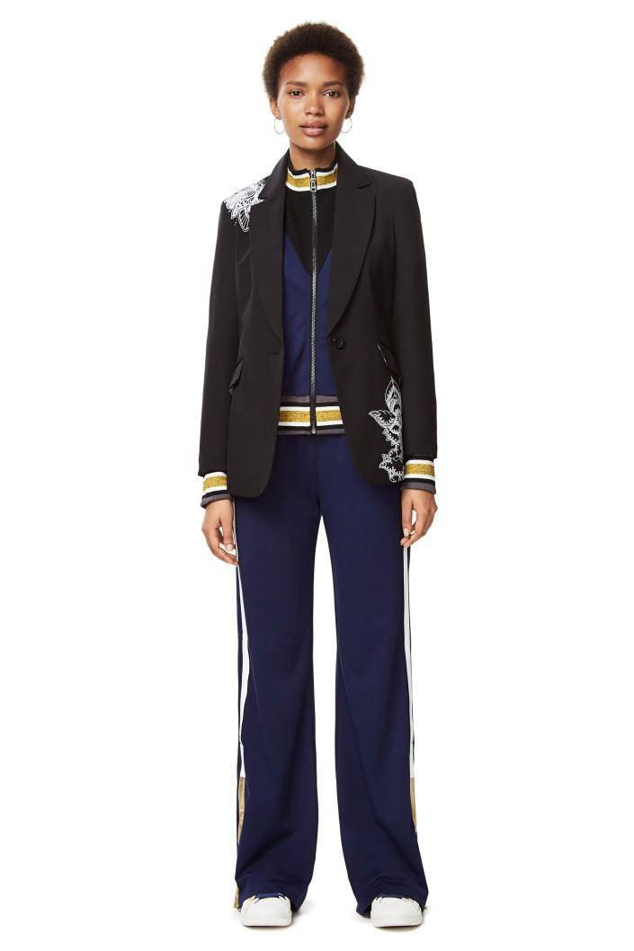 kabát Desigual Elo negro velikost: 44