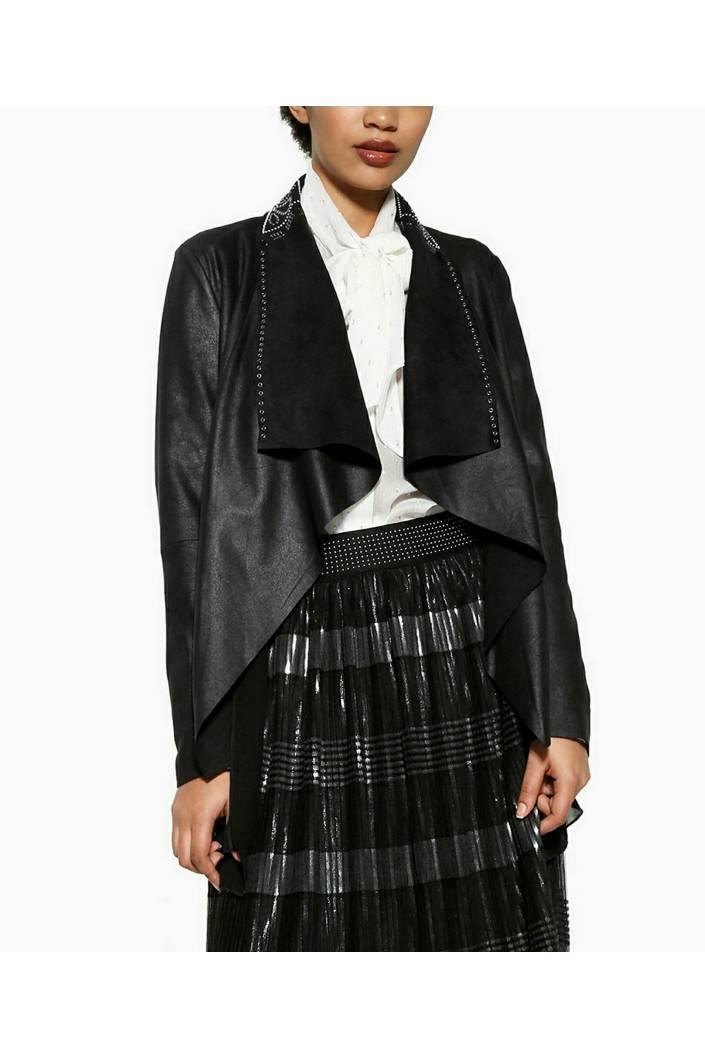 kabát Desigual Riga negro velikost: 44