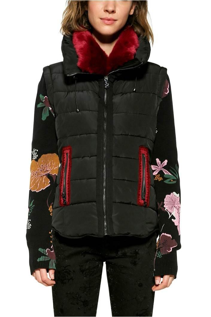kabát Desigual Salva negro velikost: 44
