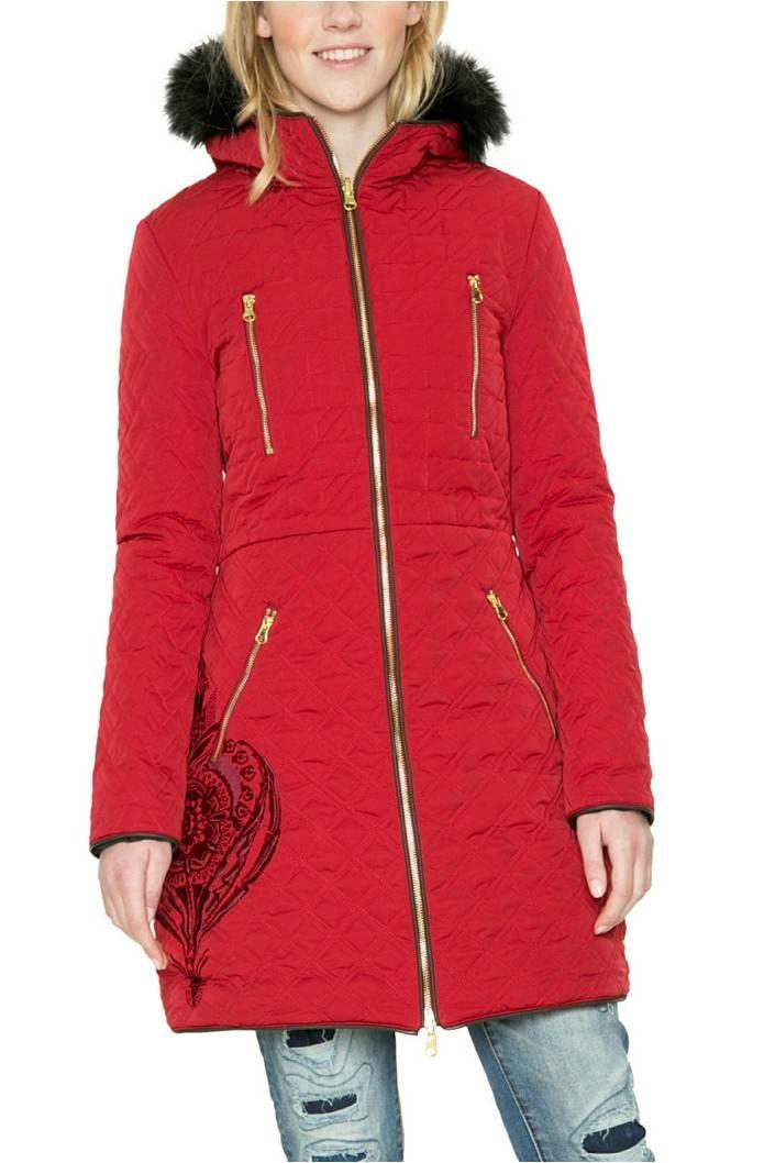 kabát Desigual Azul borgona velikost: 44