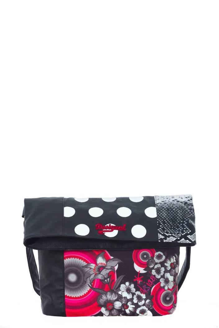 kabelka Desigual Bols Ibiza Flower Geometr negro velikost: U
