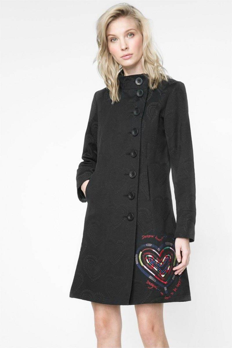 kabát Desigual Mydidat negro velikost: 44