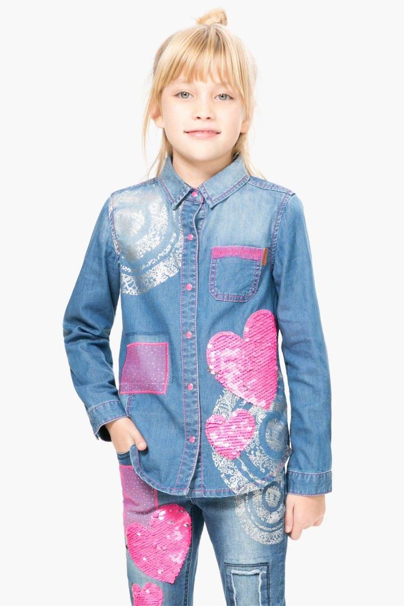 košile Desigual Denim jeans velikost: 9/10