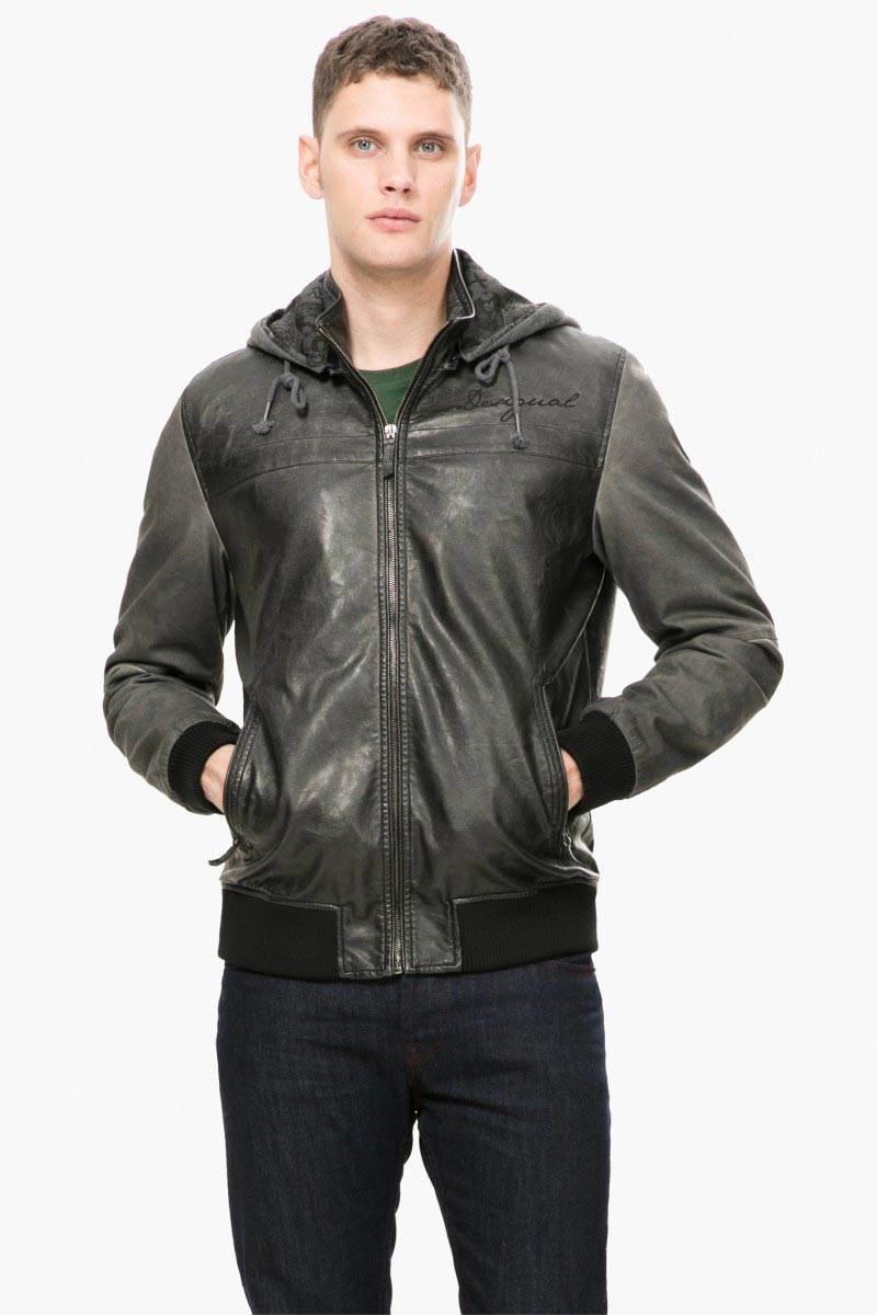 bundy a kabáty Desigual Chaq Ricardo jet black velikost: L