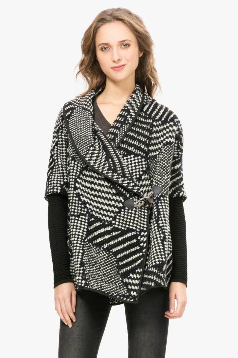 kabát Desigual Montse negro velikost: 44