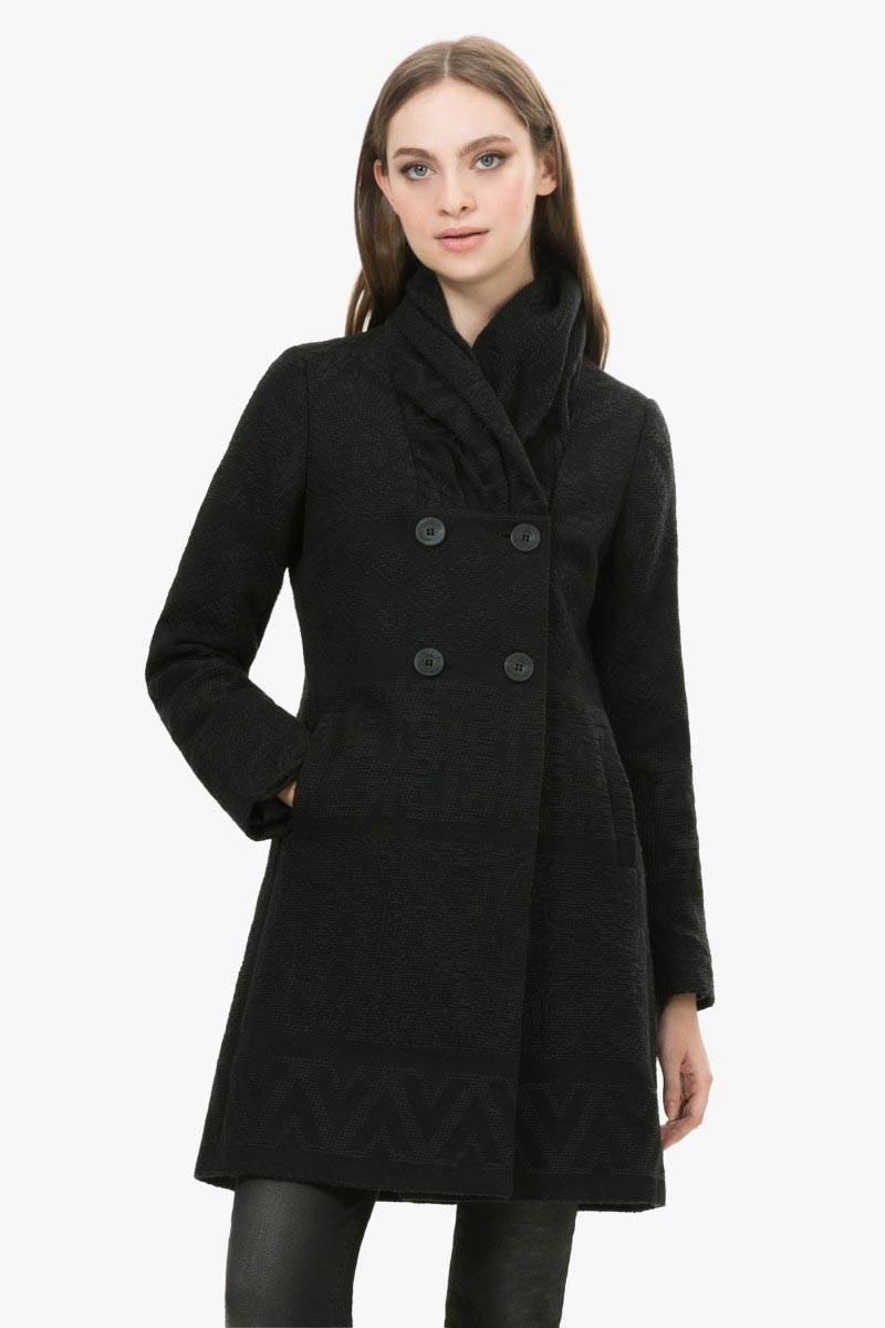 kabát Desigual Asha 1 negro velikost: 44