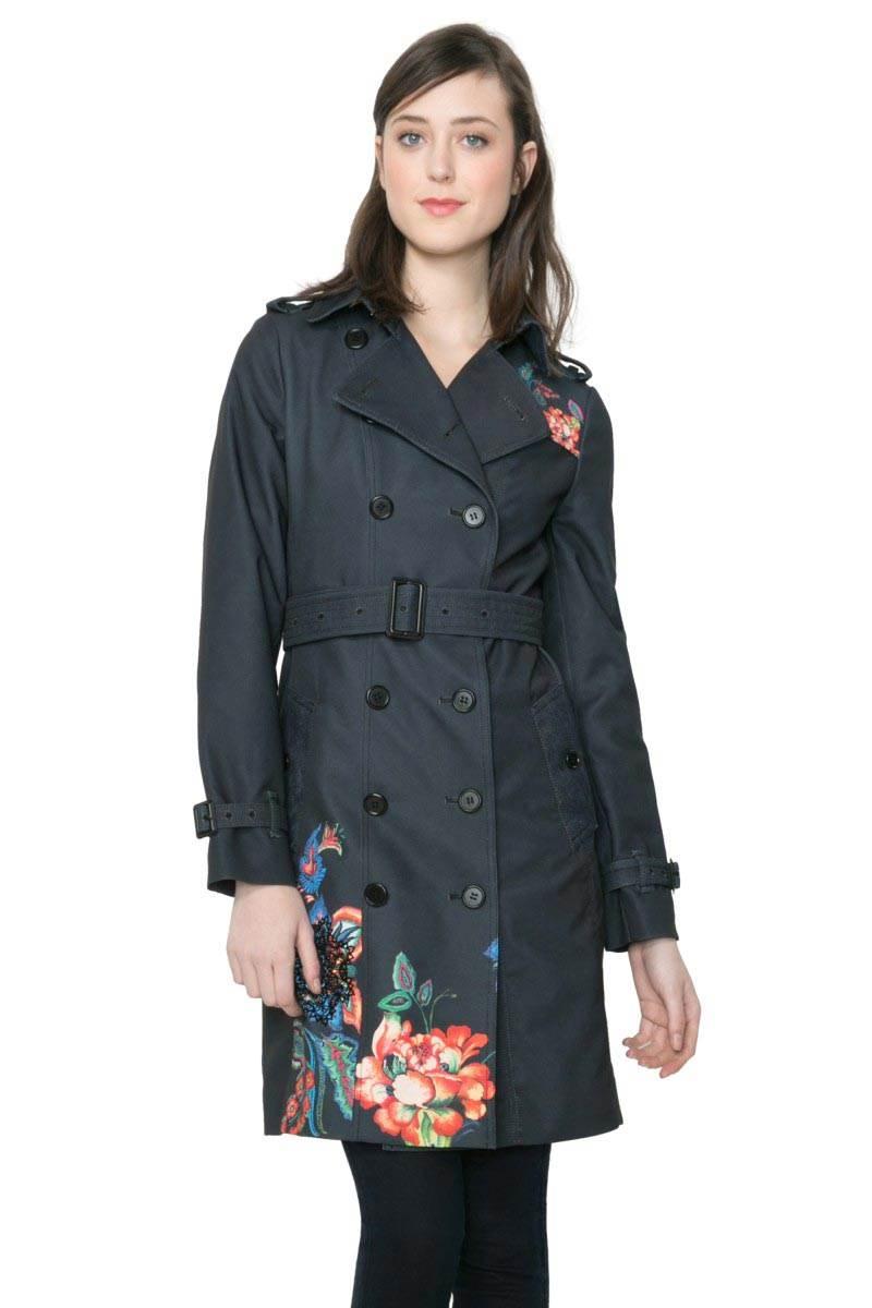 kabát Desigual Marina negro velikost: 44