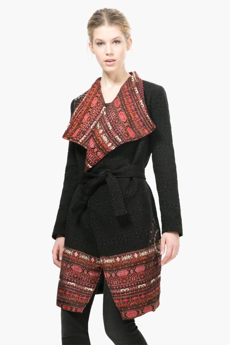 kabát Desigual Evita negro velikost: 44