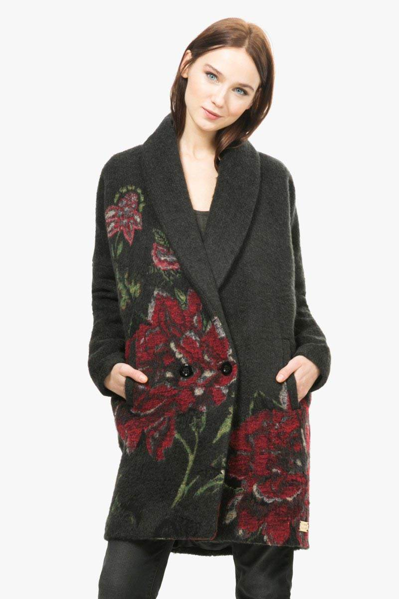 kabát Desigual Sant Celoni negro velikost: 44