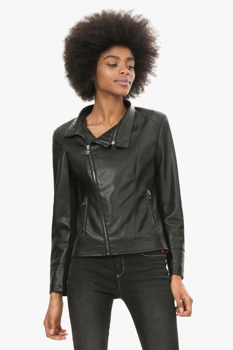 podzimní bunda Desigual Celia negro velikost: 36