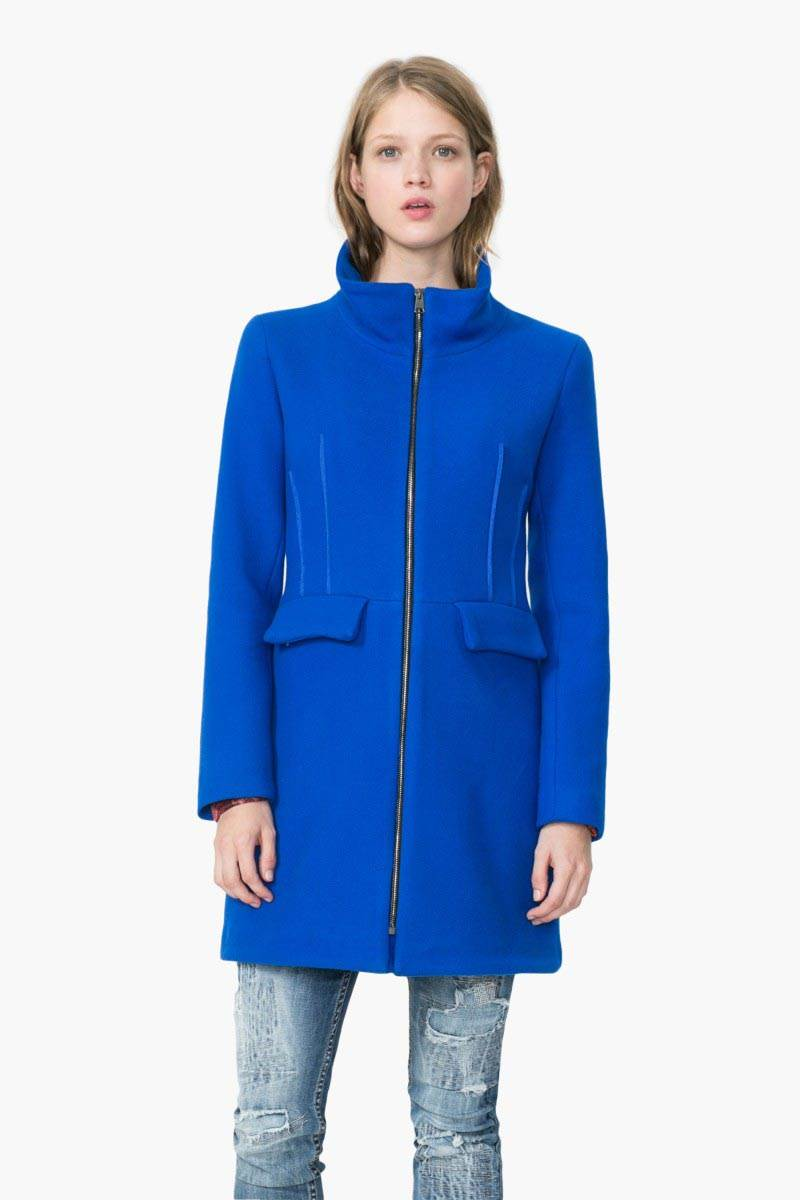 kabát Desigual Julieta royal velikost: 44