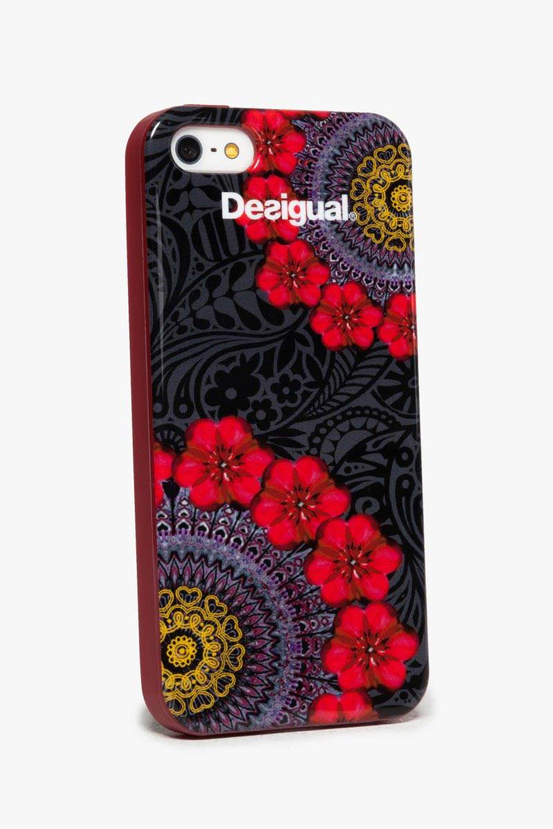 obal na telefon Desigual Iphone4 Red Garden carmin velikost: U