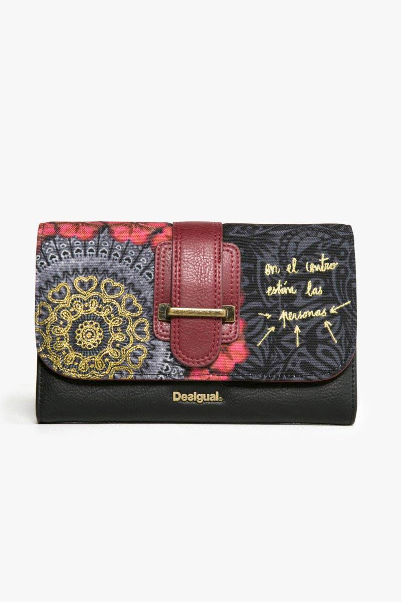peněženka Desigual Lengueta Red Garden carmin velikost: U