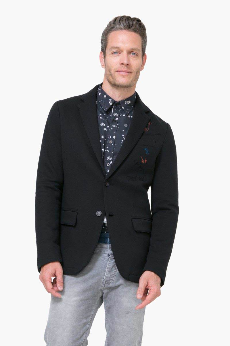 bundy a kabáty Desigual Embro Rep negro velikost: 48