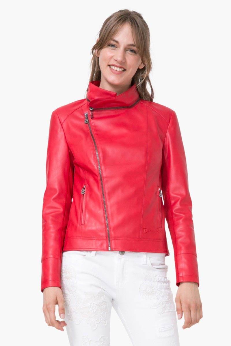 kabát Desigual Chaq Leman carmin velikost: 44