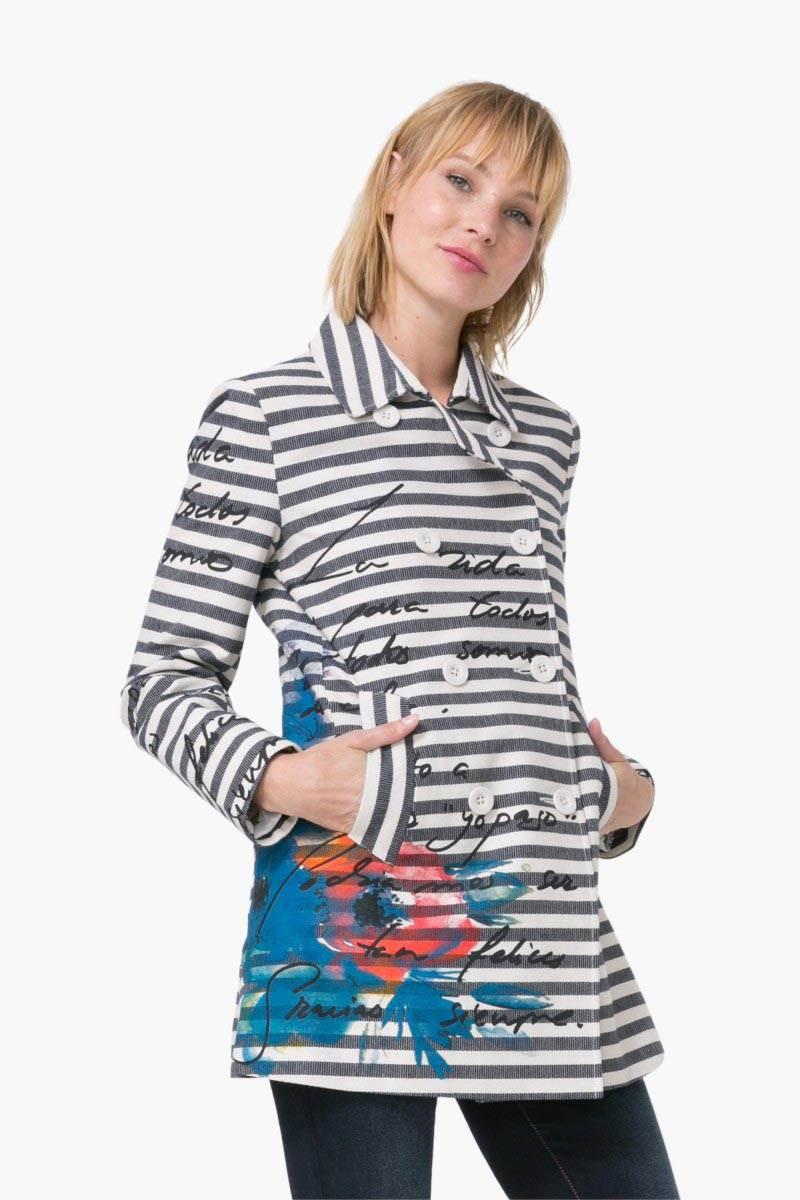 kabát Desigual Abrig Mencía marino velikost: 44