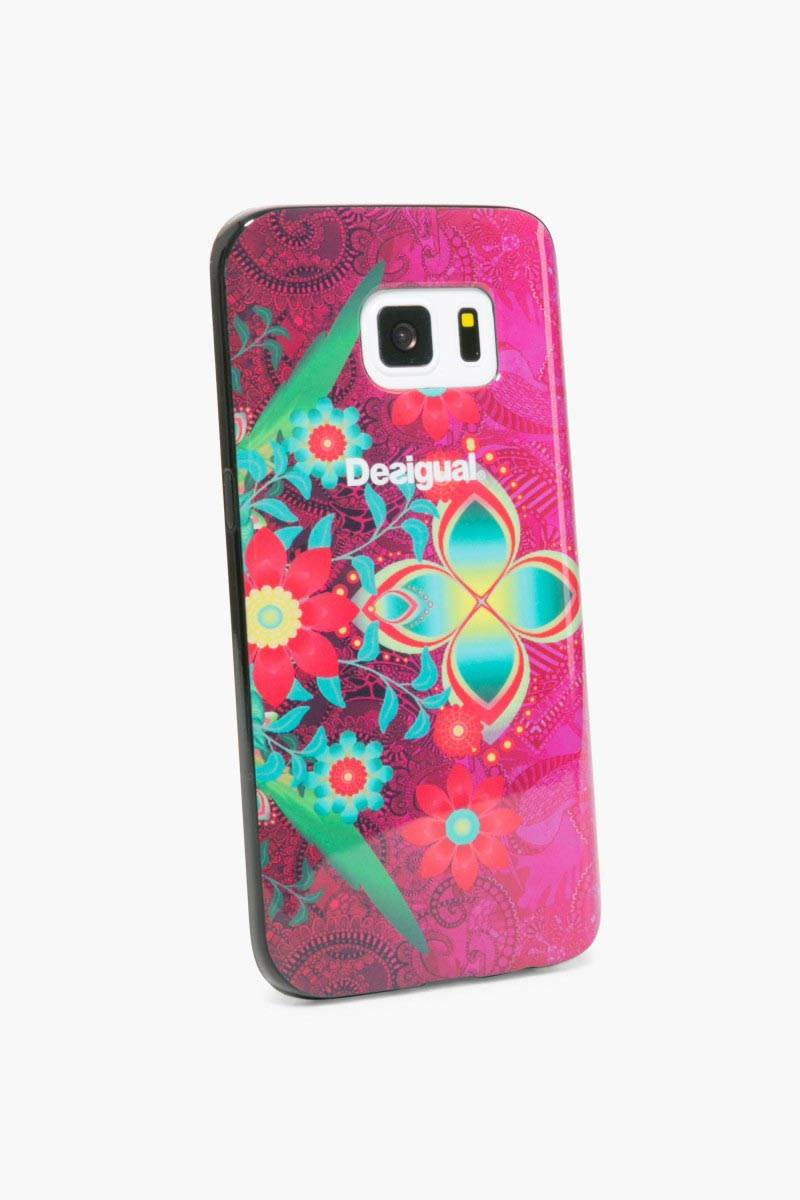 obal na telefon Desigual Samsung Galaxy7 rose red velikost: U