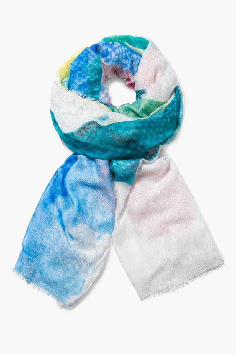 šátek Desigual Aquarelle Soft blanco velikost: U