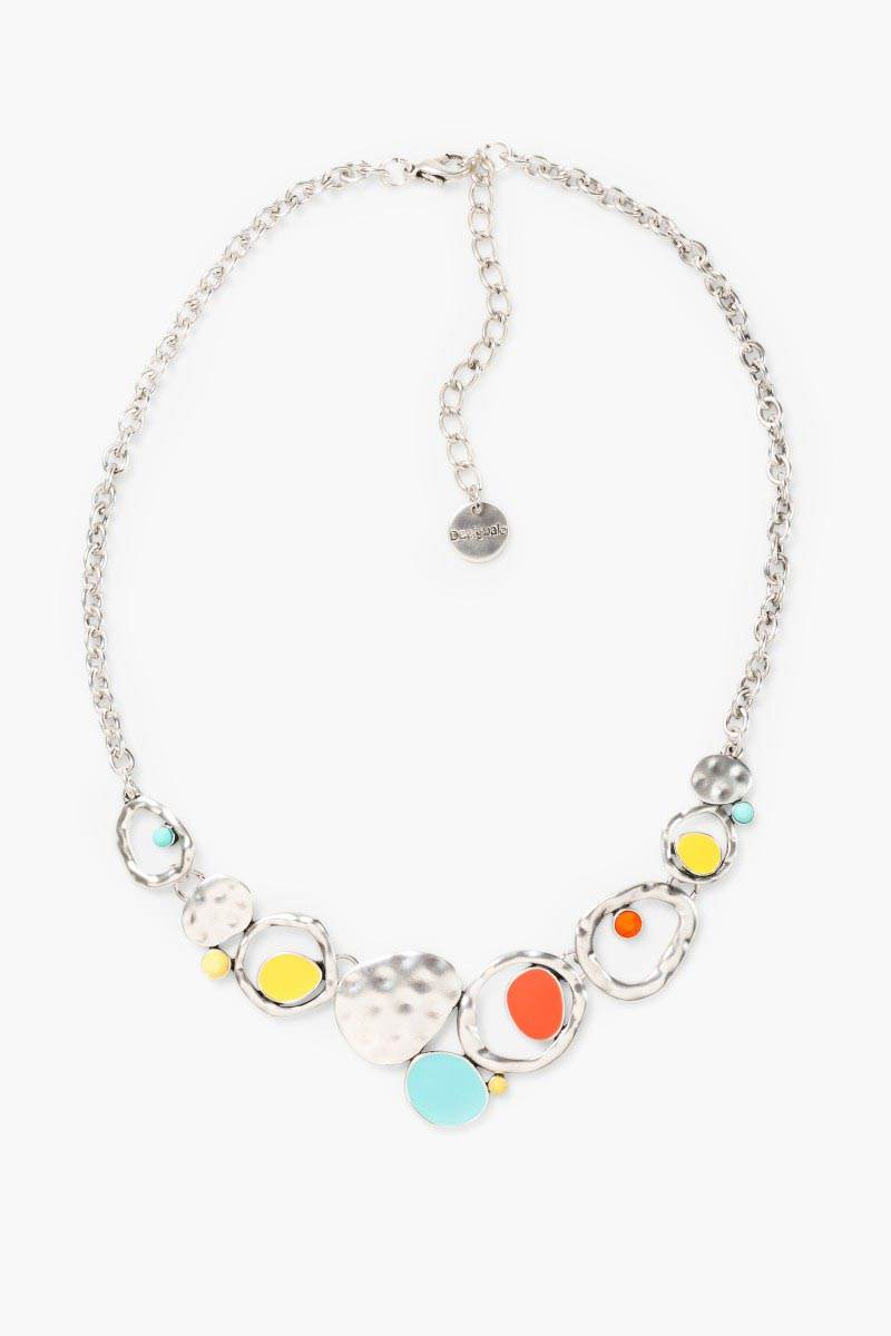 šperk Desigual Collar Bolas turquesa velikost: U