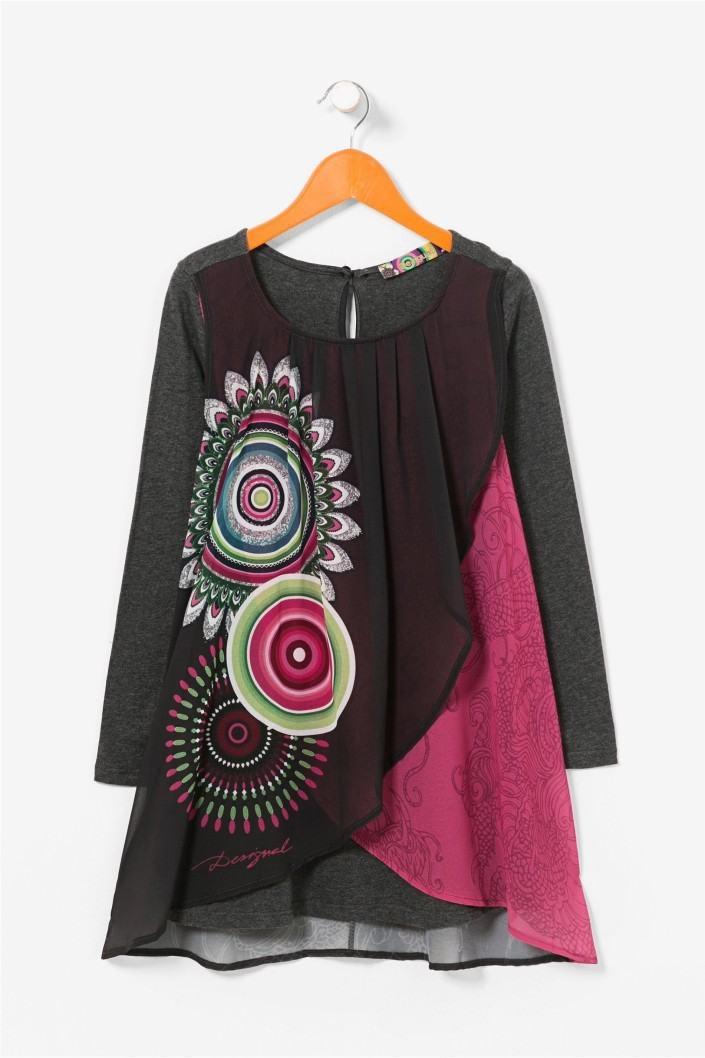 šaty Desigual Boston gris oscuro velikost  9 10  b4ef0cee164