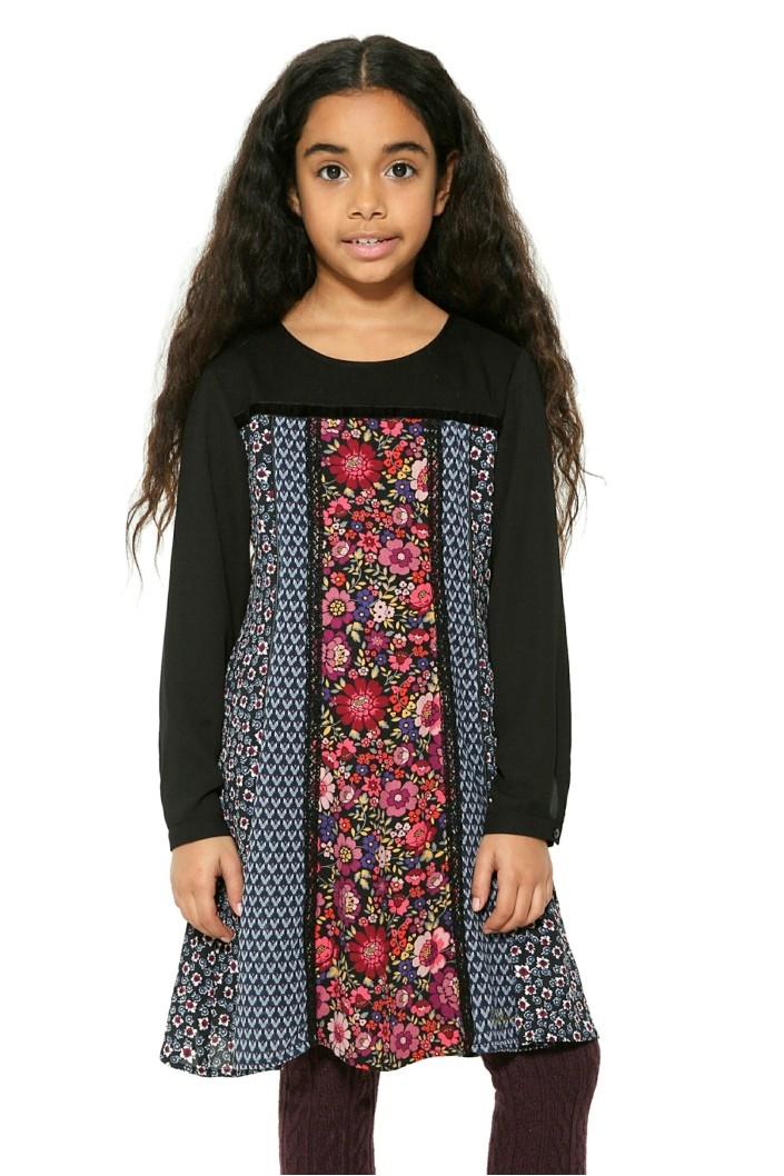 šaty Desigual Trípoli negro velikost  9 10  6bfa6f1f3c0