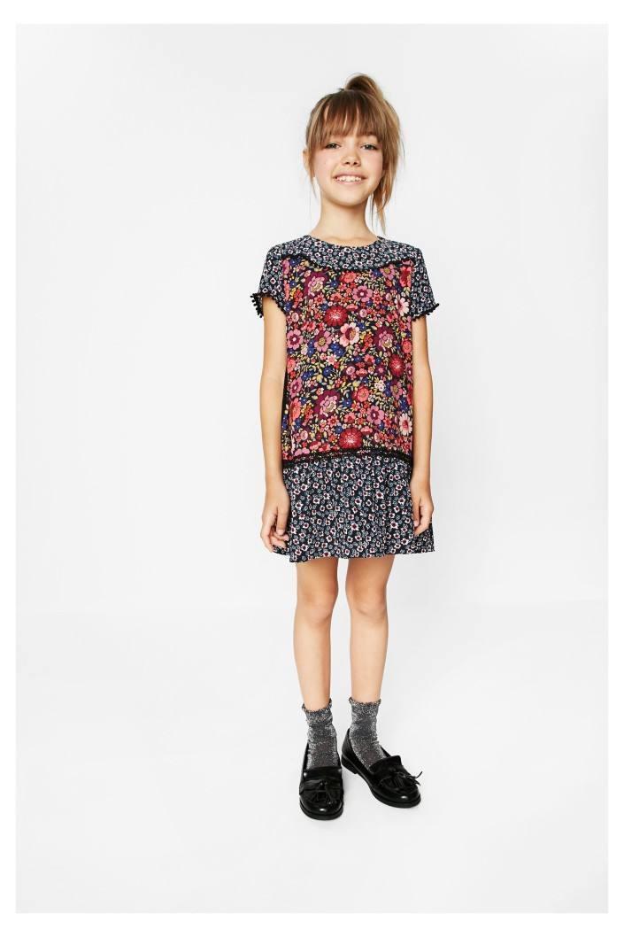 šaty Desigual Mini Flowers negro  9fe444aef8a
