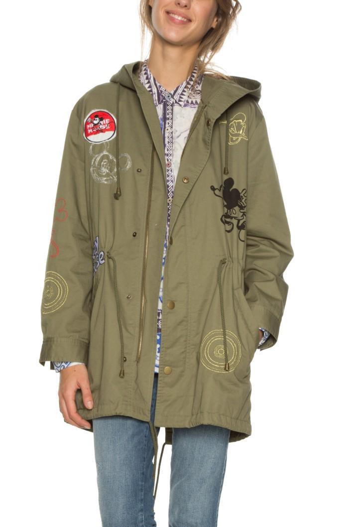 kabát Desigual Appassionata avocado  4d12ad2c65