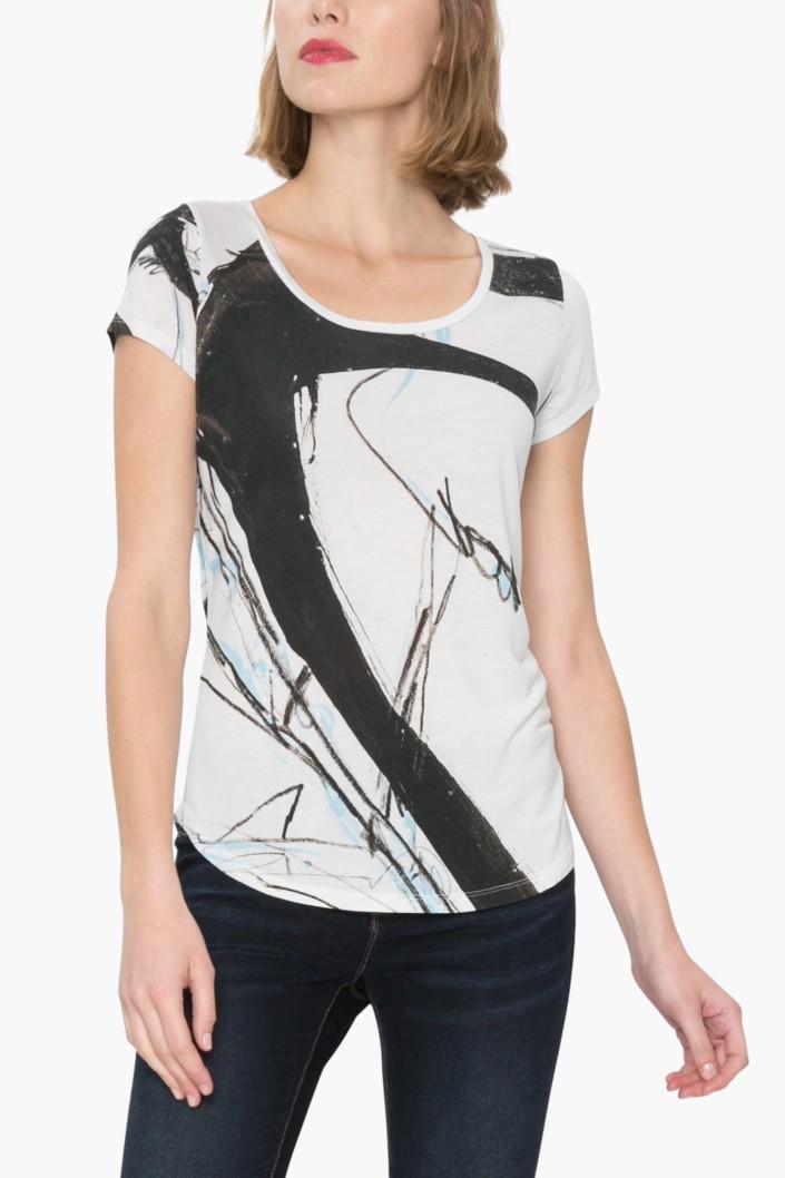 tričko Desigual Aricia blanco lino
