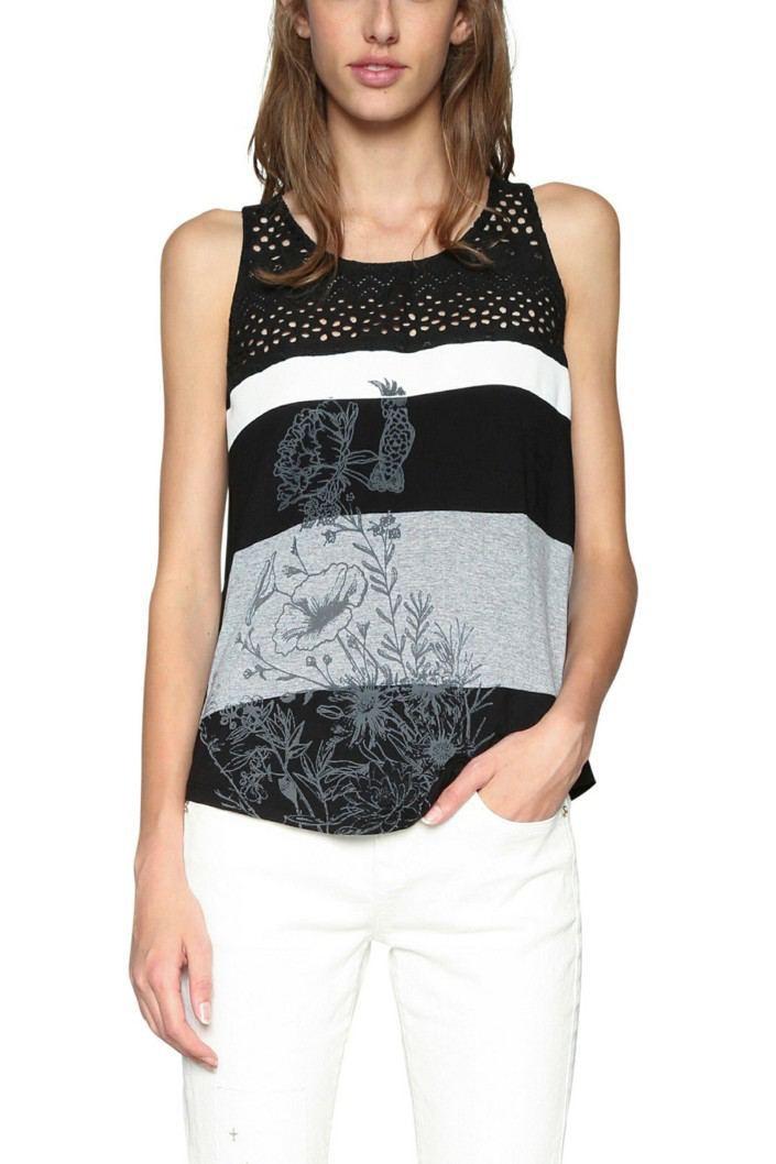 tričko Desigual Cruel Summer negro  b7c4a293a7b