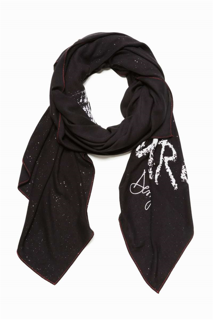 šátek Desigual Mickey Graffiti negro  4c5646835b