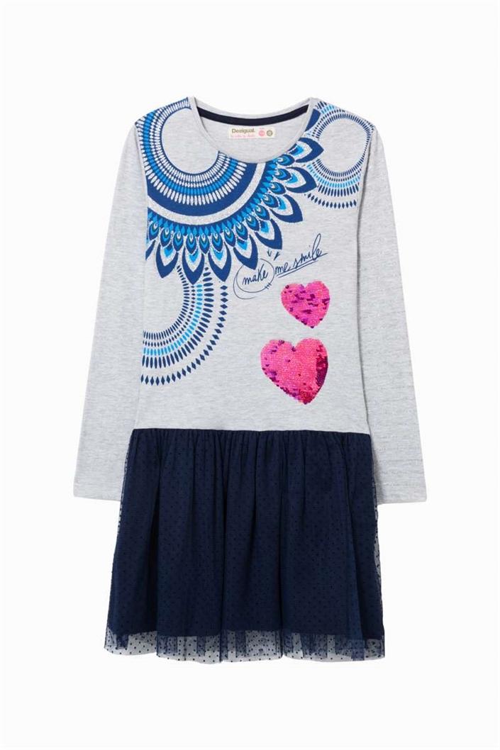 šaty Desigual Annap gris vigore claro velikost  9 10  7e22855217f