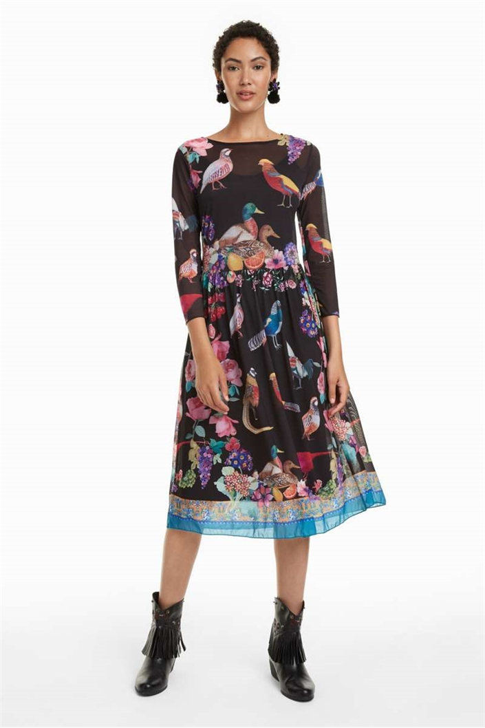 šaty Desigual Dunia negro