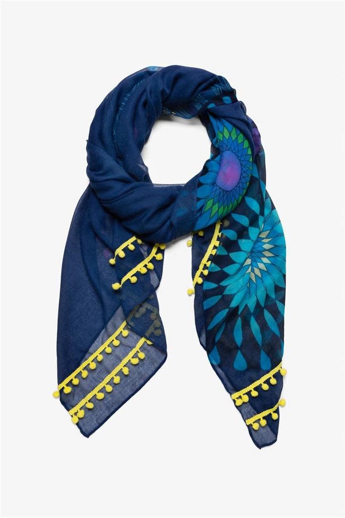 šátek Desigual Neon navy
