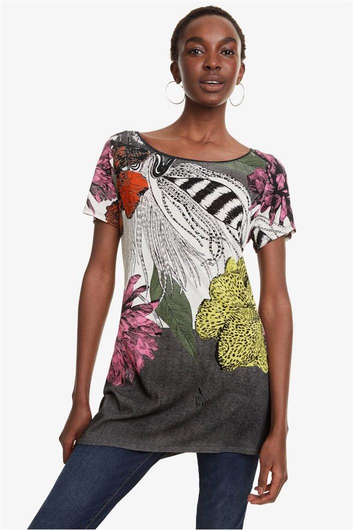 tričko Desigual Sioux negro  4bfaf4a2bb