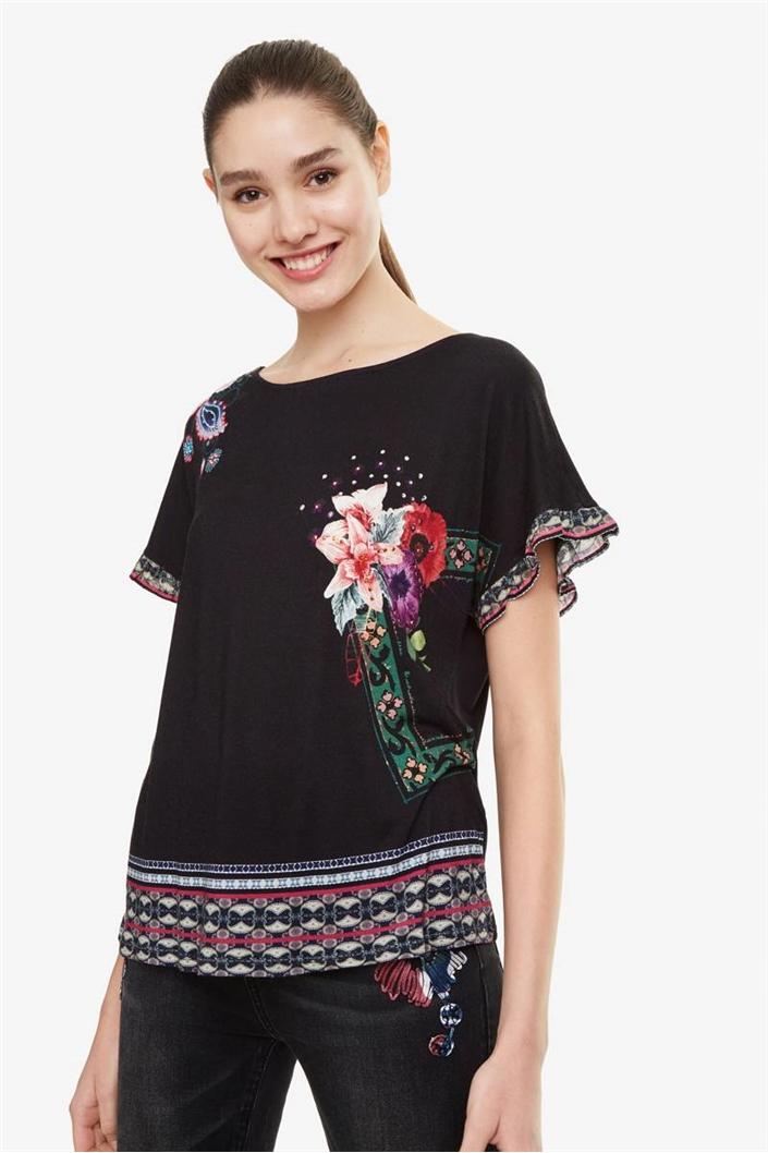 tričko Desigual Medoc negro  aa00e130614