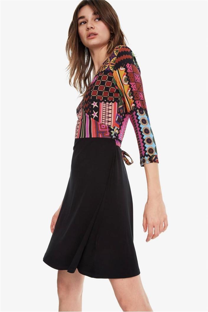 šaty Desigual Jill negro  bd65a95cd56
