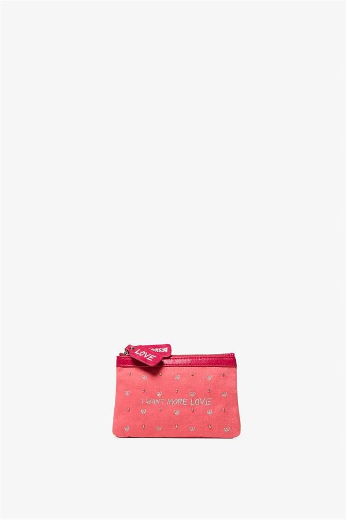 peněženka Desigual Messages candy pink