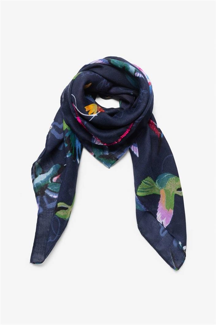 šátek Desigual Mamey navy