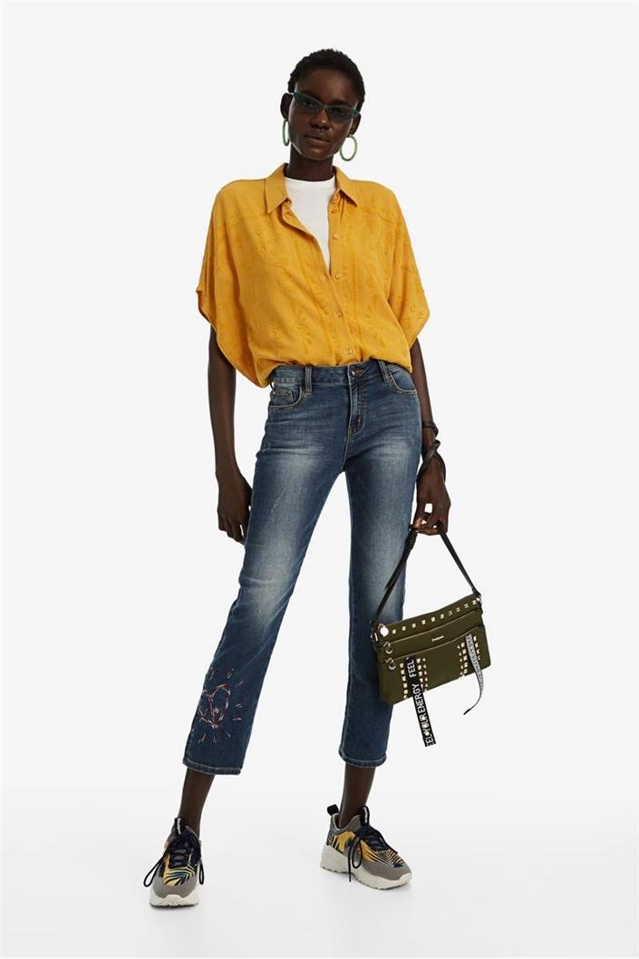 jeansy Desigual Sanford denim dark blue