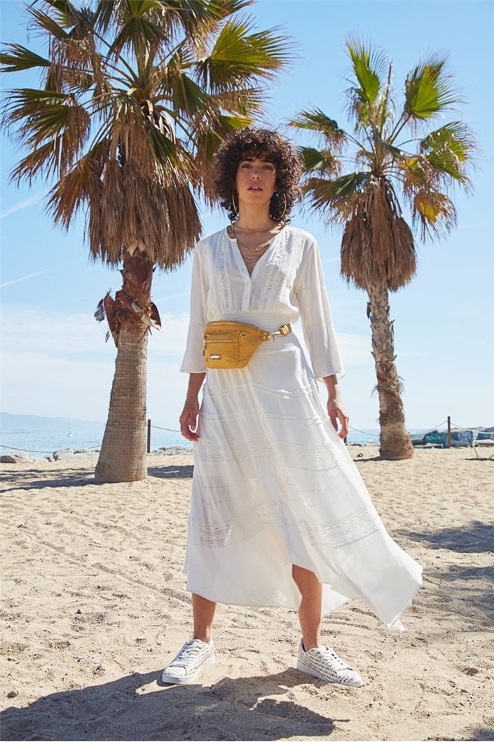šaty Desigual Jude blanco