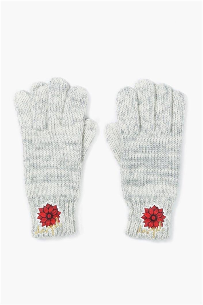 čepice a rukavice Desigual Electr gris vigore cla